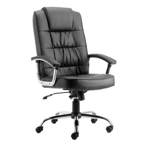 Moore Deluxe Leather Office Chair With Arms